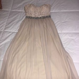 Long Cream Colored Dress